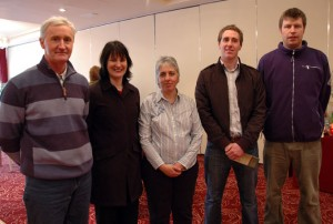 Michael Power(Coillte), Catherine Cross (KCEB), Vered Zur (Future Proof Kilkenny)and other Coillte representatives.